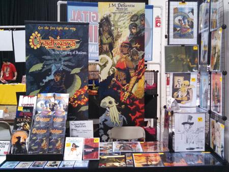J. M. DeSantis Boston Comic Con 2015 table
