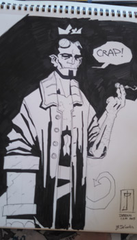 J. M. DeSantis Hellboy in Hell convention sketch