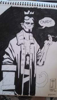 J. M. DeSantis Hellboy in Hell convention sketch