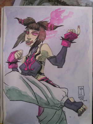 Juri Han J. M. DeSantis convention sketch