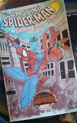 J. M. DeSantis Spiderman sketch cover